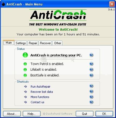 Pantallazo Anticrash