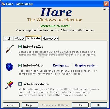 Pantallazo Hare