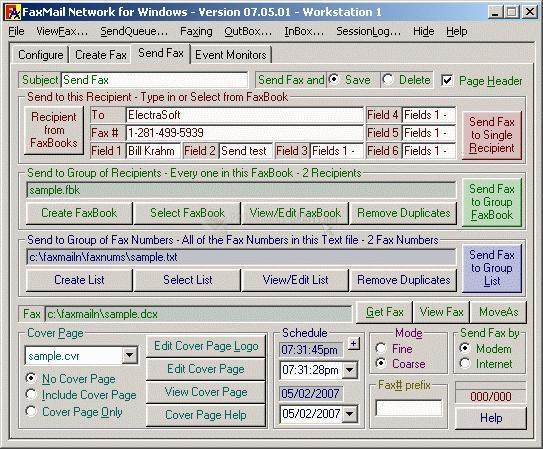 Pantallazo FaxMail Network