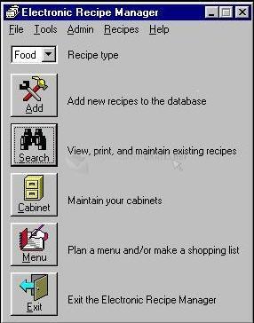 Pantallazo Recipe Manager