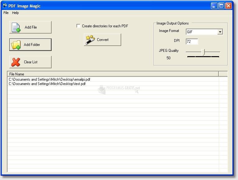 Pantallazo PDF Image Magic