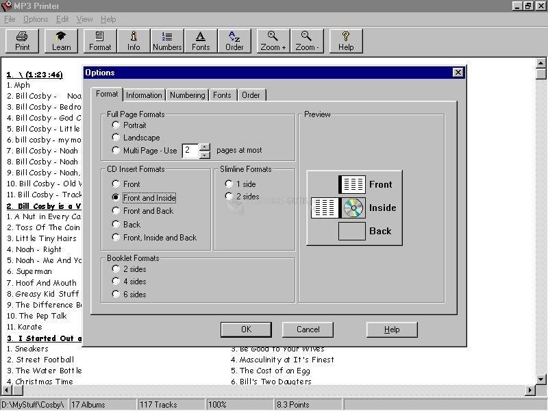 Pantallazo MP3 Printer
