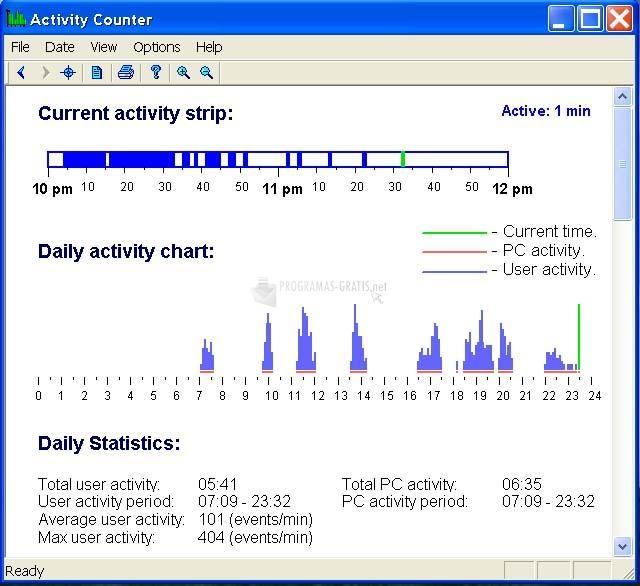 Pantallazo Active Work Tracker