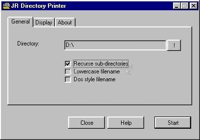 Pantallazo JR Directory Printer