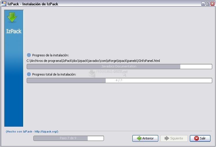Screenshot IzPack
