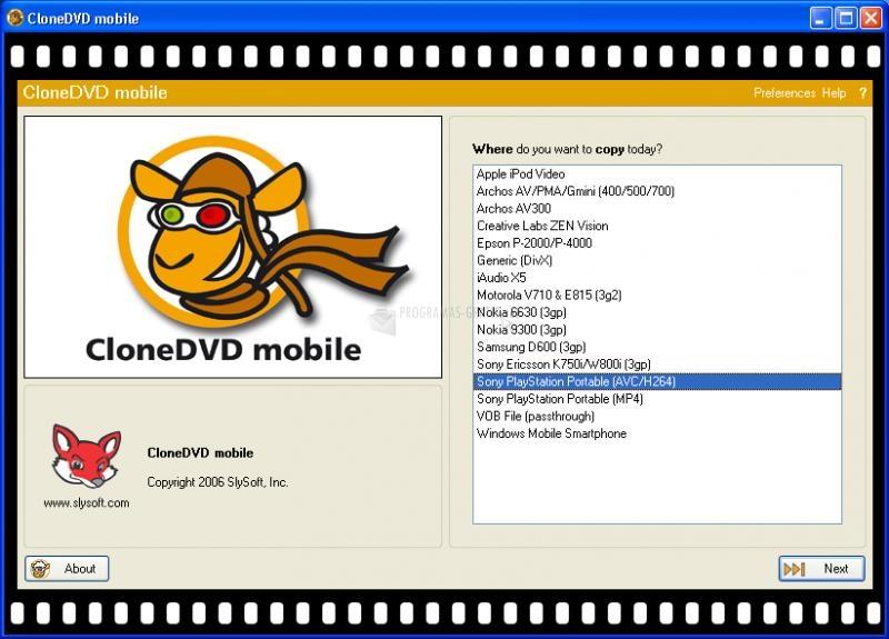 Pantallazo CloneDVD Mobile