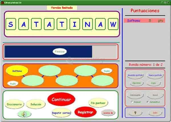 Pantallazo Softaob Cifras y Letras