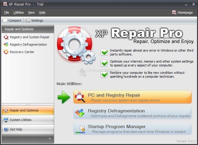 Pantallazo XP Repair Pro