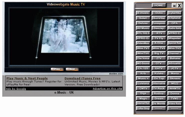 Pantallazo Music TV Box