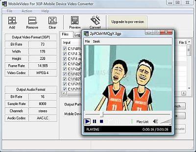 Pantallazo MobileVideo for 3GP