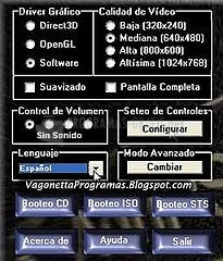 Pantallazo AdriPSX Playstation Emulator
