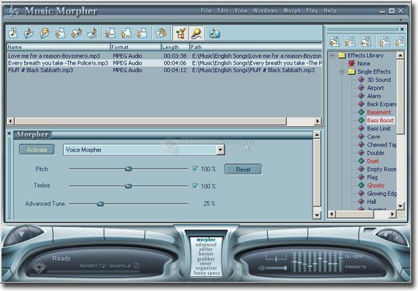 Pantallazo AV Music Morpher