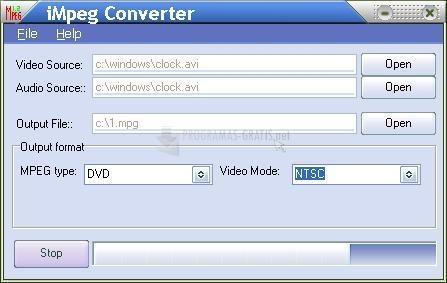 Pantallazo iMpeg Converter