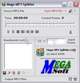 Pantallazo Mega MP3 Splitter