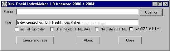 Pantallazo Indexmaker