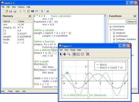 Pantallazo SpeQ Mathematics