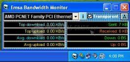 Pantallazo Emsa Bandwidth Monitor