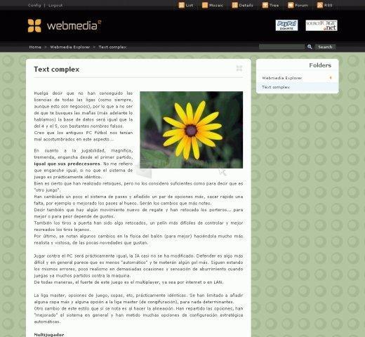 Pantallazo Webmedia Explorer