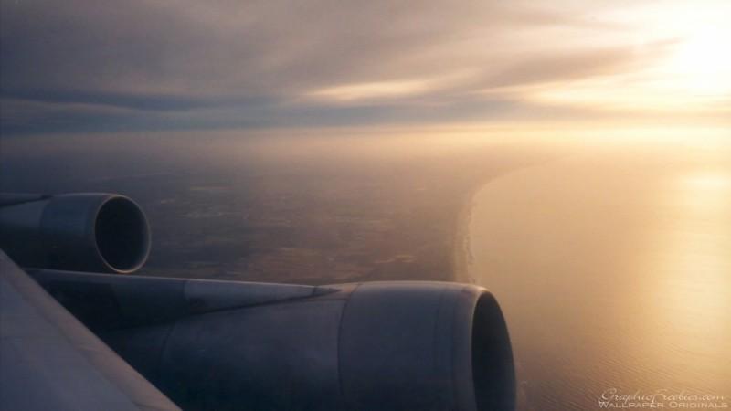 Pantallazo Amanecer Desde el Avion
