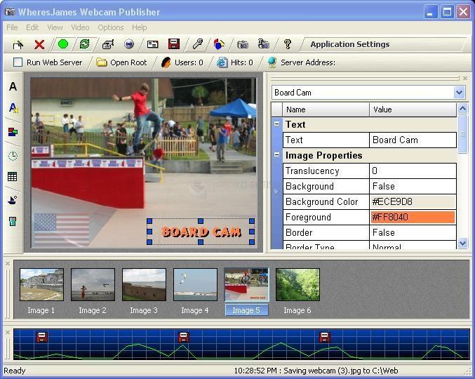 Pantallazo WJ Webcam Publisher