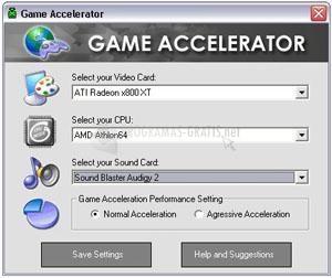 Pantallazo Game Accelerator
