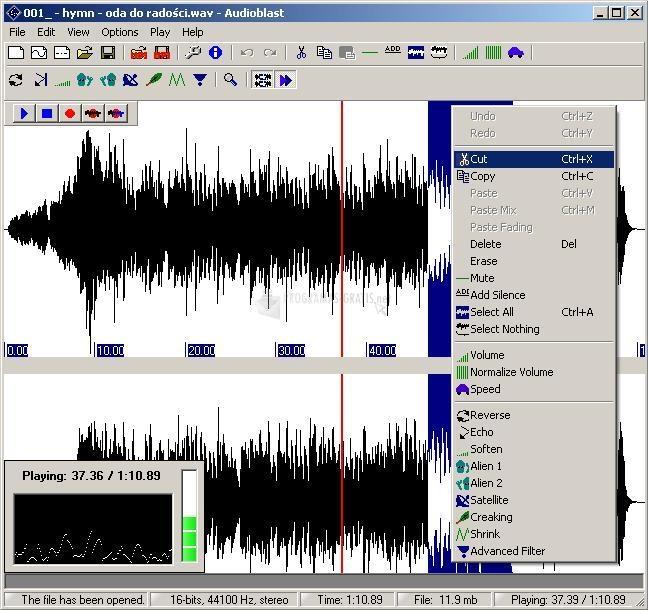 Pantallazo AudioBlast