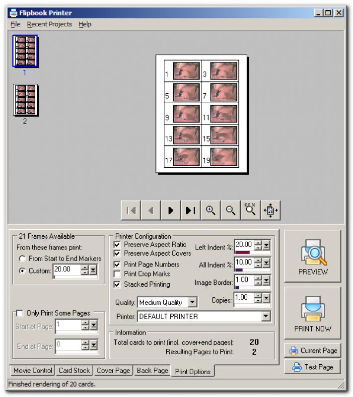 Pantallazo Flipbook Printer