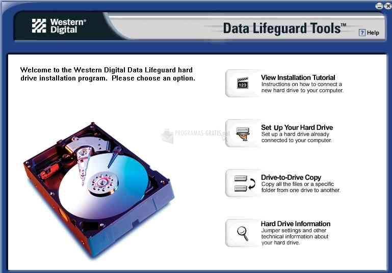 Pantallazo Data Lifeguard Tools