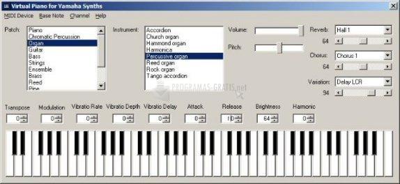 Pantallazo Virtual Piano