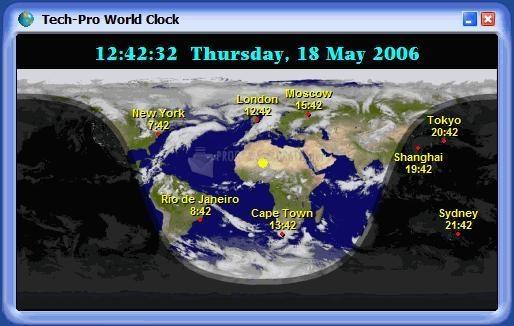 Pantallazo Tech-Pro World Clock 2