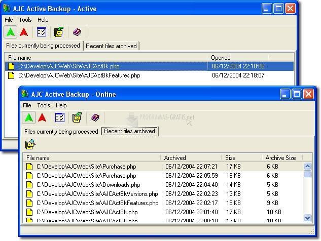 Pantallazo AJC Active Backup