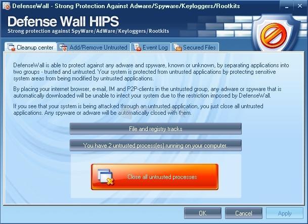 Pantallazo DefenseWall HIPS