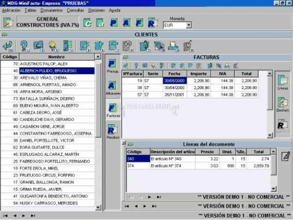 Pantallazo MDG-MiniFactu 2007