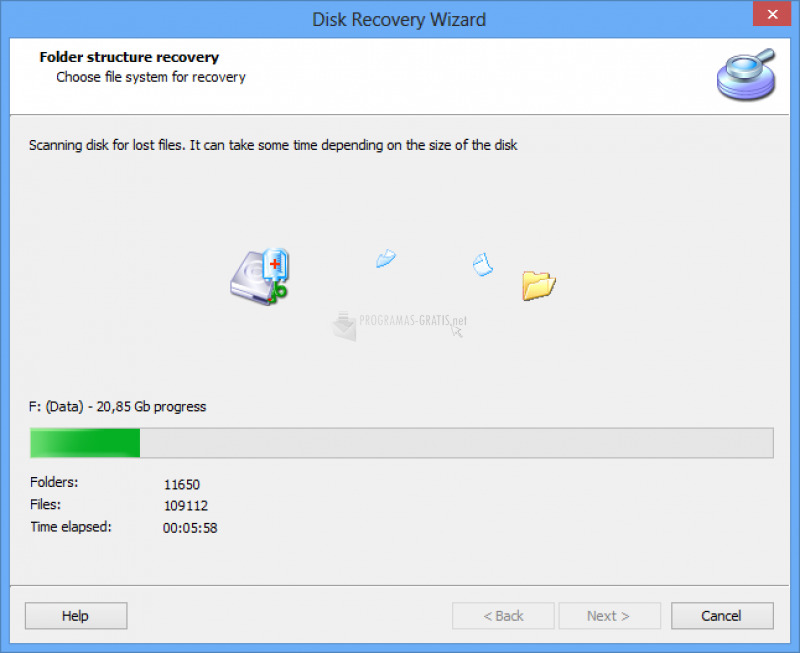 Captura DiskInternals Partition Recovery