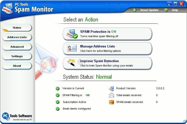 Pantallazo Spam Monitor