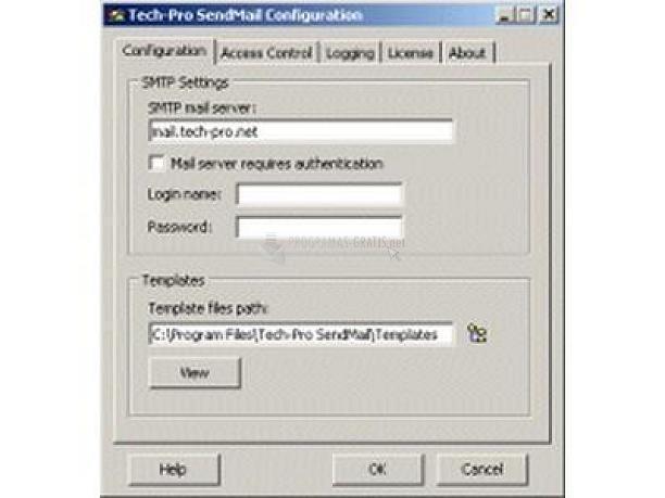 Pantallazo Tech-Pro SendMail
