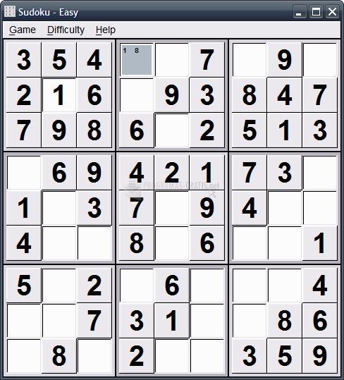 Pantallazo Sudoku Portable