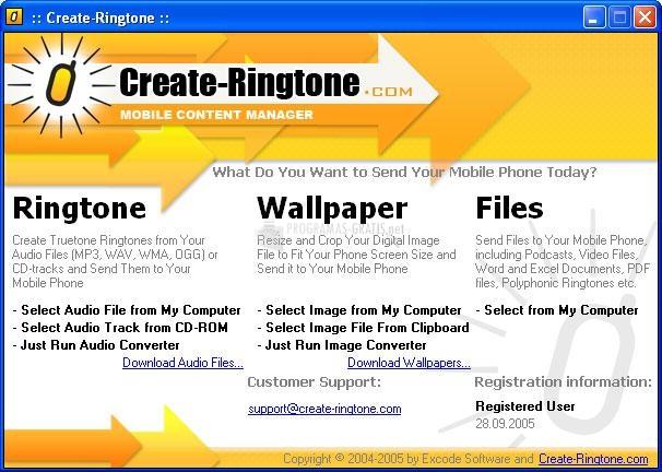 Pantallazo Create Ringtone