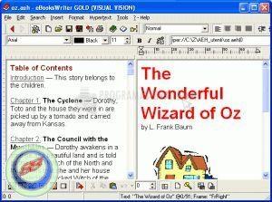 Pantallazo eBooksWriter LITE