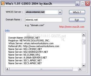 Pantallazo Max2k Who,s
