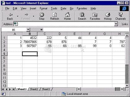Pantallazo Excel Viewer 2003