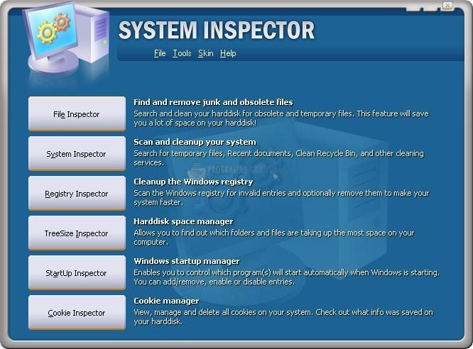 Pantallazo System Inspector