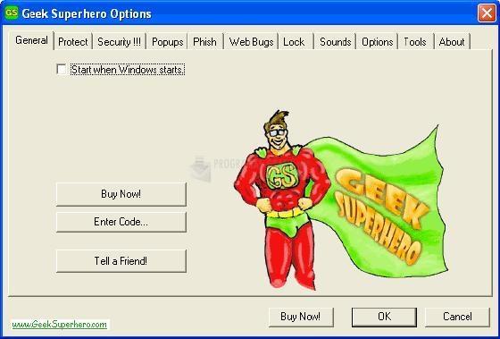 Pantallazo Geek Superhero
