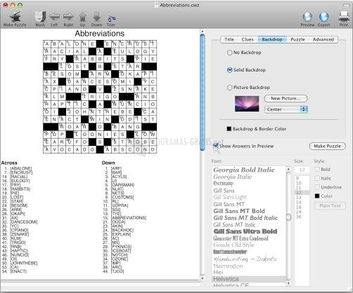 Pantallazo Crossword Forge