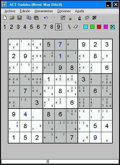 Pantallazo ACT-Sudoku