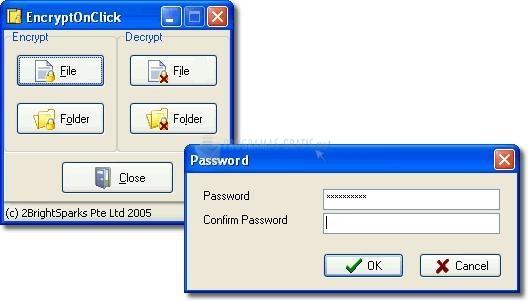 Pantallazo EncryptOnClick