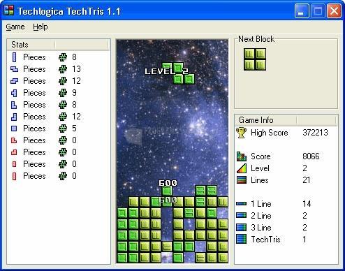 Pantallazo Techlogica Tetris