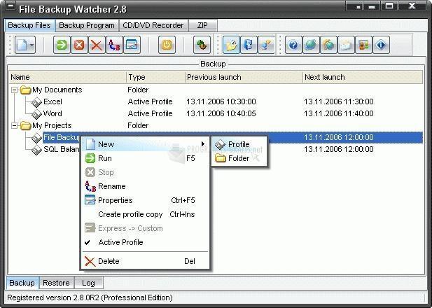 Pantallazo File Backup Watcher