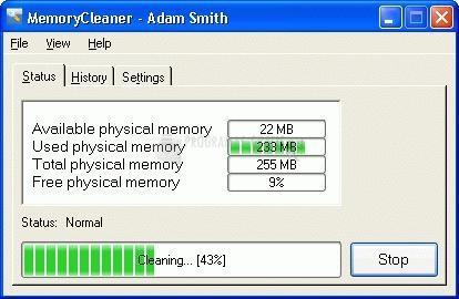 Pantallazo MemoryCleaner