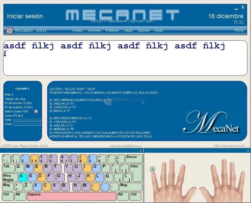 Pantallazo MecaNet